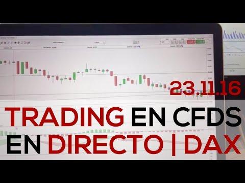 Trading en Directo con CFDs sobre el DAX con @fca_serrano – 23-11-16