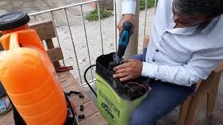 #Akülü sırt pompası tamiri #repair of battery powered tread pump