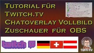 Twitch Chat im Stream einblenden für OBS Vollbild [GER] 1080/60 Deutsch