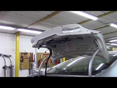 Форд Фьюжн, вытяжка задней панели. Body repair after an accident.