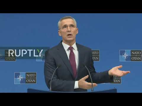 LIVE: Stoltenberg holds press conference ahead of NATO leaders' summit in London