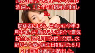 水野美紀交際約3カ月スピード婚.