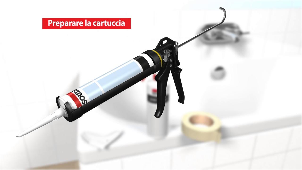 Applicare il silicone nel bagno youtube