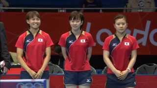 London 2012 Olympics Table Tennis Women's Team SemiFinals - Japan vs Singapore
