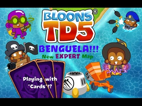 NEW BENGUELA EXPERT MAP!!! Cards Challenge!?!? -  Bloons TD 5