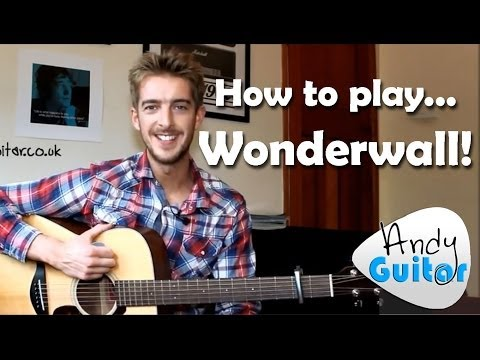Wonderwall  Oasis How to play Easy Beginner Guitar Songs
