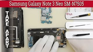 How to disassemble 📱 Samsung Galaxy Note 3 Neo SM-N7505 Take apart Tutorial