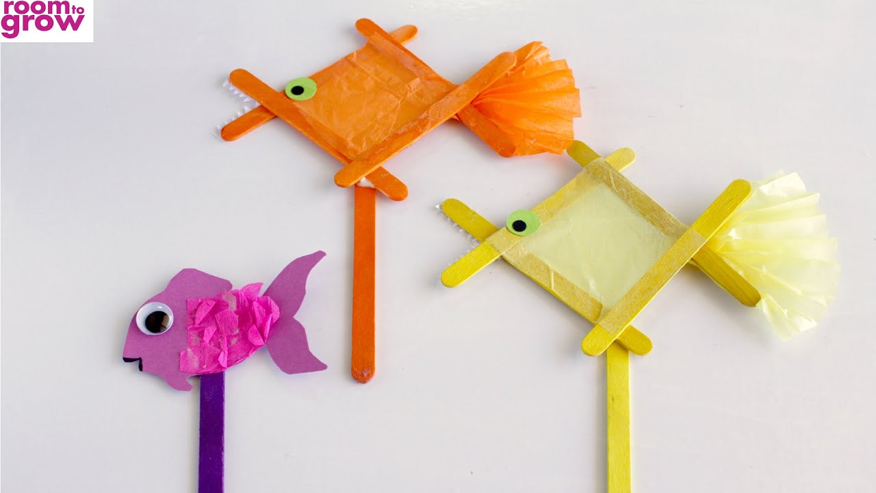 How To Make A Popsicle Stick Fish Stop Motion Youtube