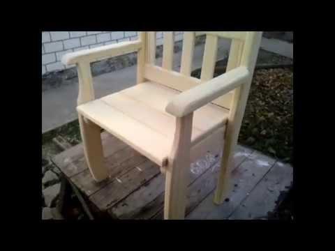 Деревянное кресло своими руками