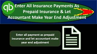 Simple way to enter insurance payments into QuickBooks