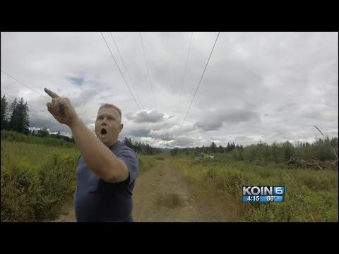 Video: Armed landowner confronts motorcyclist