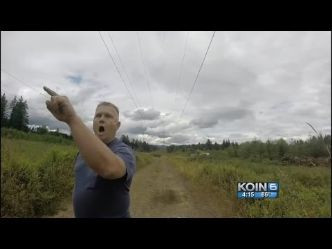 Video: Armed landowner