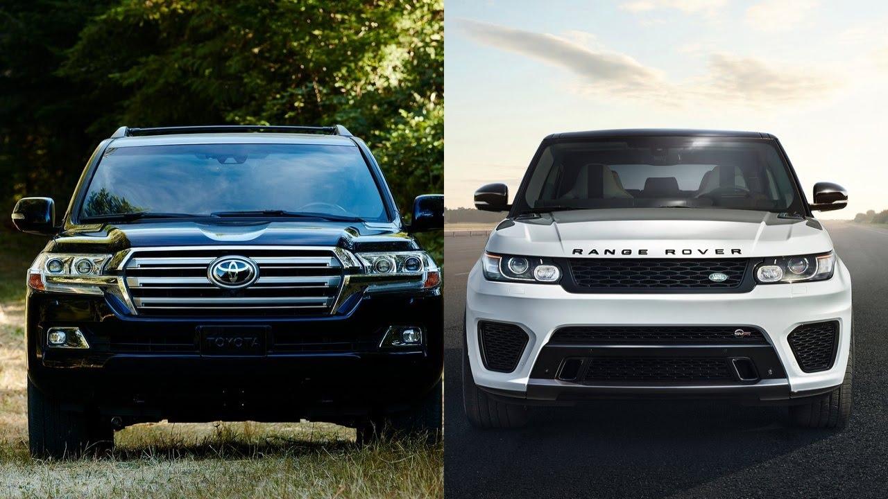 2016 Toyota Land Cruiser vs 2016 Range Rover Sport - YouTube