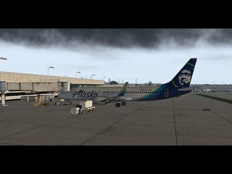XPlane 11: Alaska Airlines ASA622   Seattle to Phoenix    Zibo 737-800   VATSIM
