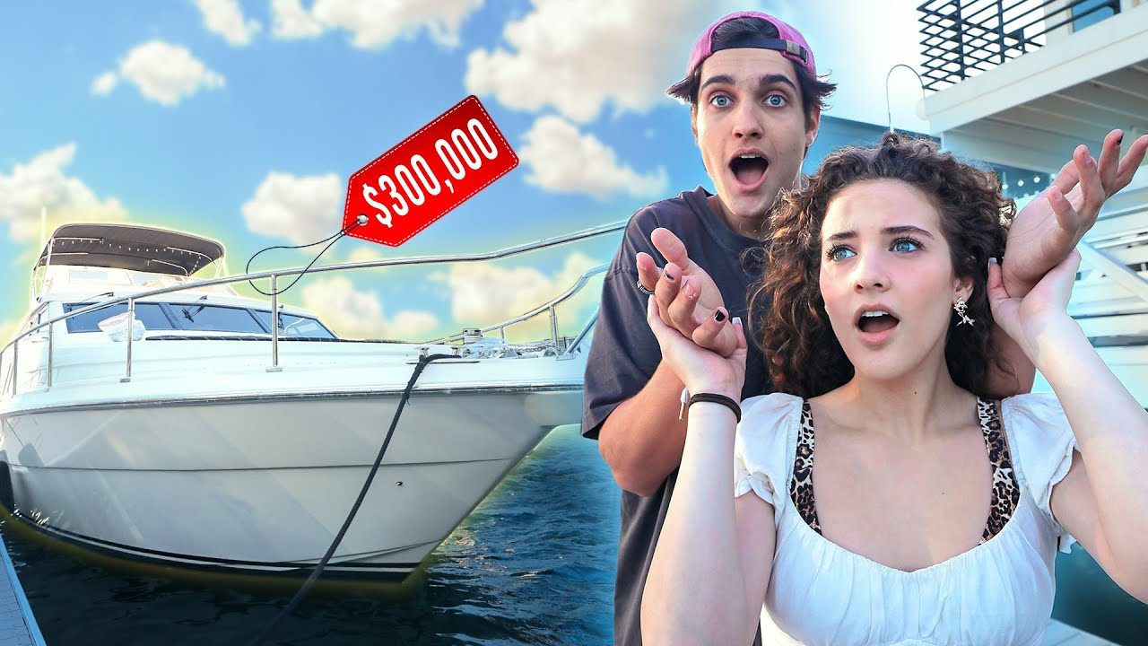 HE SURPRISED ME WITH A YACHT!!! - download from YouTube for free