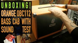 Orange Bass Cab Unboxing And Sound Test