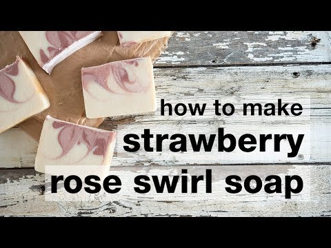 How to Make DIY Strawberry Rose Cold Processed Soap
