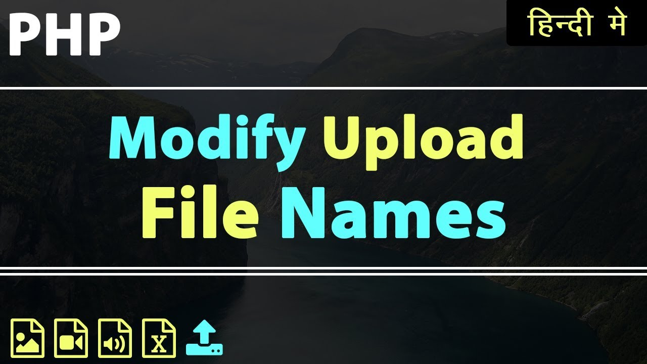 PHP upload file with same name | modify file name | Learn PHP in Hindi