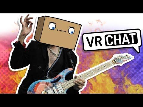 SHREDDING GUITAR IN VR CHAT! (Guitar Duels)