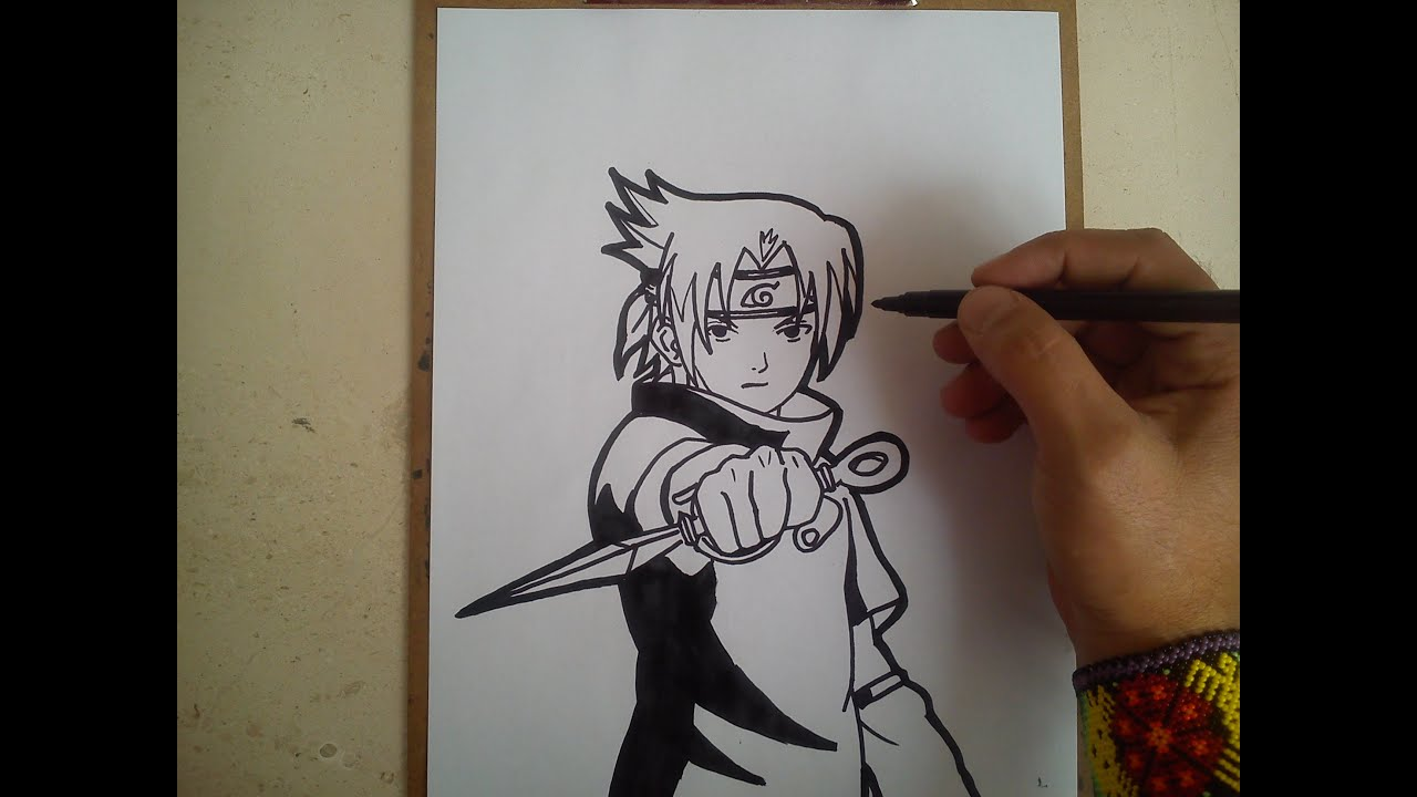 Como Dibujar A Sasuke How To Draw A Sasuke Youtube