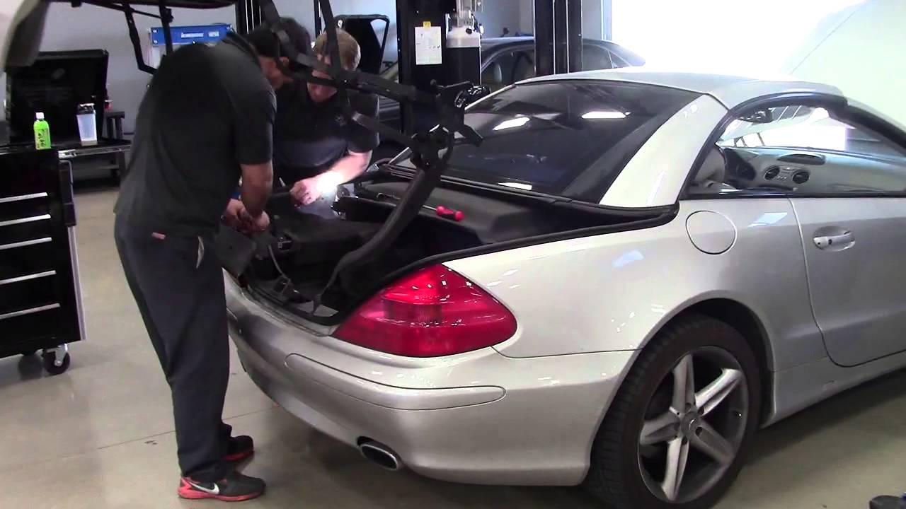 How To Fix Convertible Top On Mercedes Benz Sl