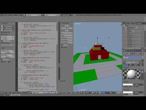 Python Scripting Tutorial Creating a Panel That allows the User to Add and Place Bricks in Blender