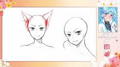 Manga zeichnen lernen - Katzenohren 🐱 [Tutorial]