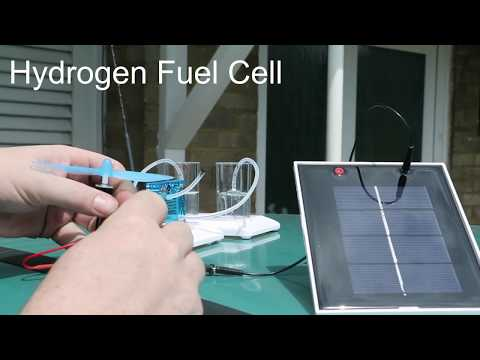 Solar powered hydrogen fuel cell demo