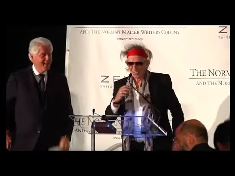 Keith Richards accepts the Norman Mailer Prize 2011