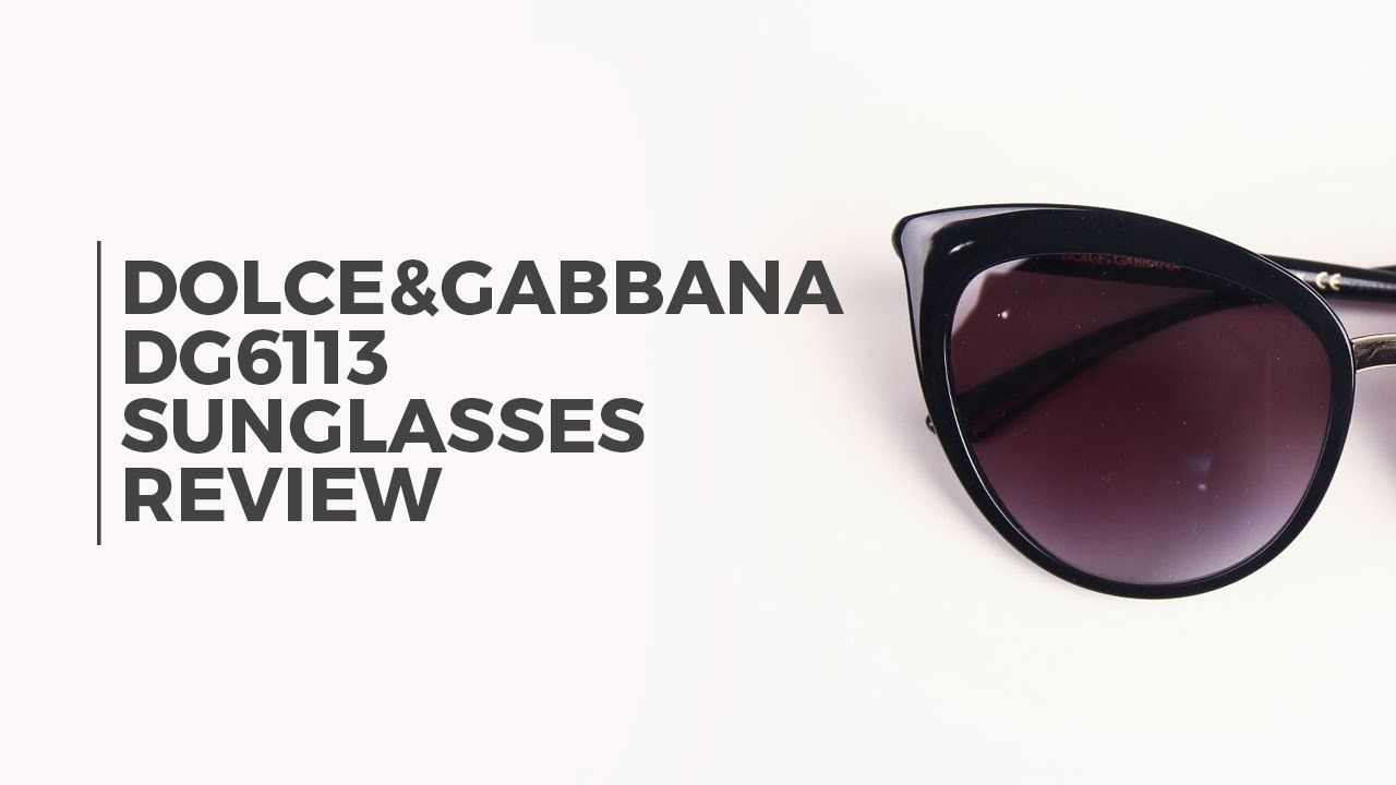881f72c5cbf6 Dolce & Gabbana DG6113 Sunglasses Review   SmartBuyGlasses - YouTube