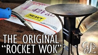 Rocket Stove Cowboy Wok Disc Cooker Build