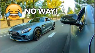 MERCEDES AMG GTR OWNER BETS $1000 HIS CAR IS FASTER LOL! thumbnail