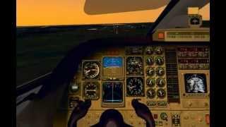X-Plane - Piaggio P180 Avanti - KAPA Landing