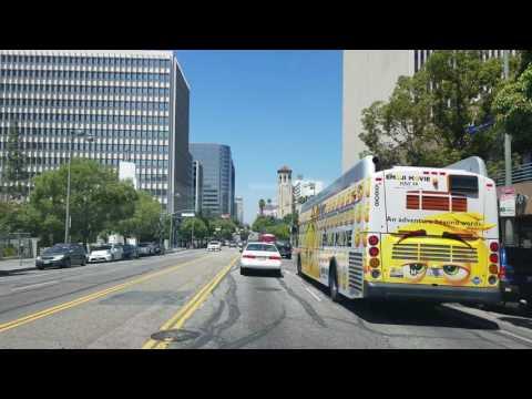 Driving Koreatown in Los Angeles, California