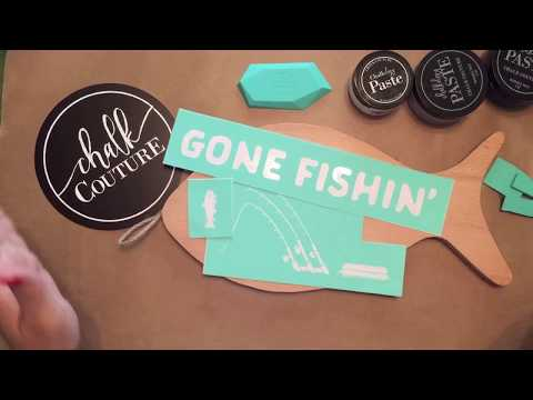 Wood Sign DIY using Chalk Couture-Great gift for a guy or anyone who loves fishing! Fast and Easy!