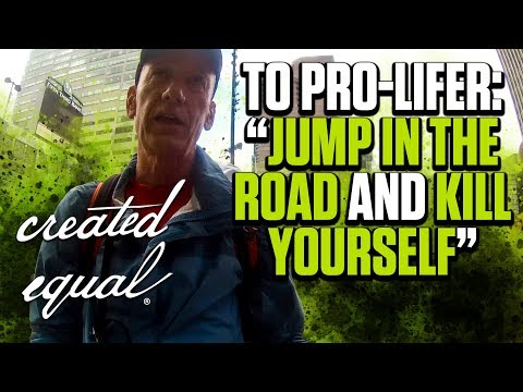 """Leftist Tells Pro-lifer: """"Step in front of a semi"""""""