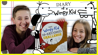 DIARY OF A WIMPY KID 10 SECOND CHALLENGE!