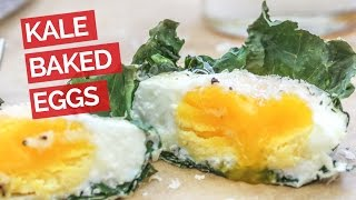 Kale Baked Eggs (Muffin Tin Recipe)