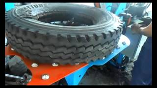 Small machines for processing waste tire