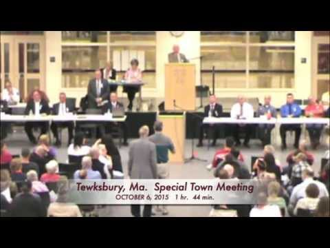 Tewksbury, MA: Special Town Meeting: October 6, 2015: Part 4 of 5