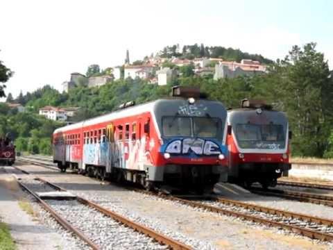 Slovenian Railways Local Trains at Štanjel station