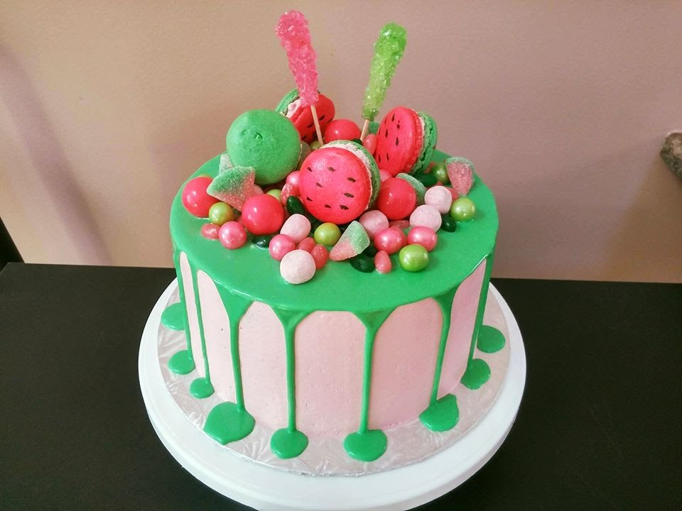 Watermelon Themed Cake