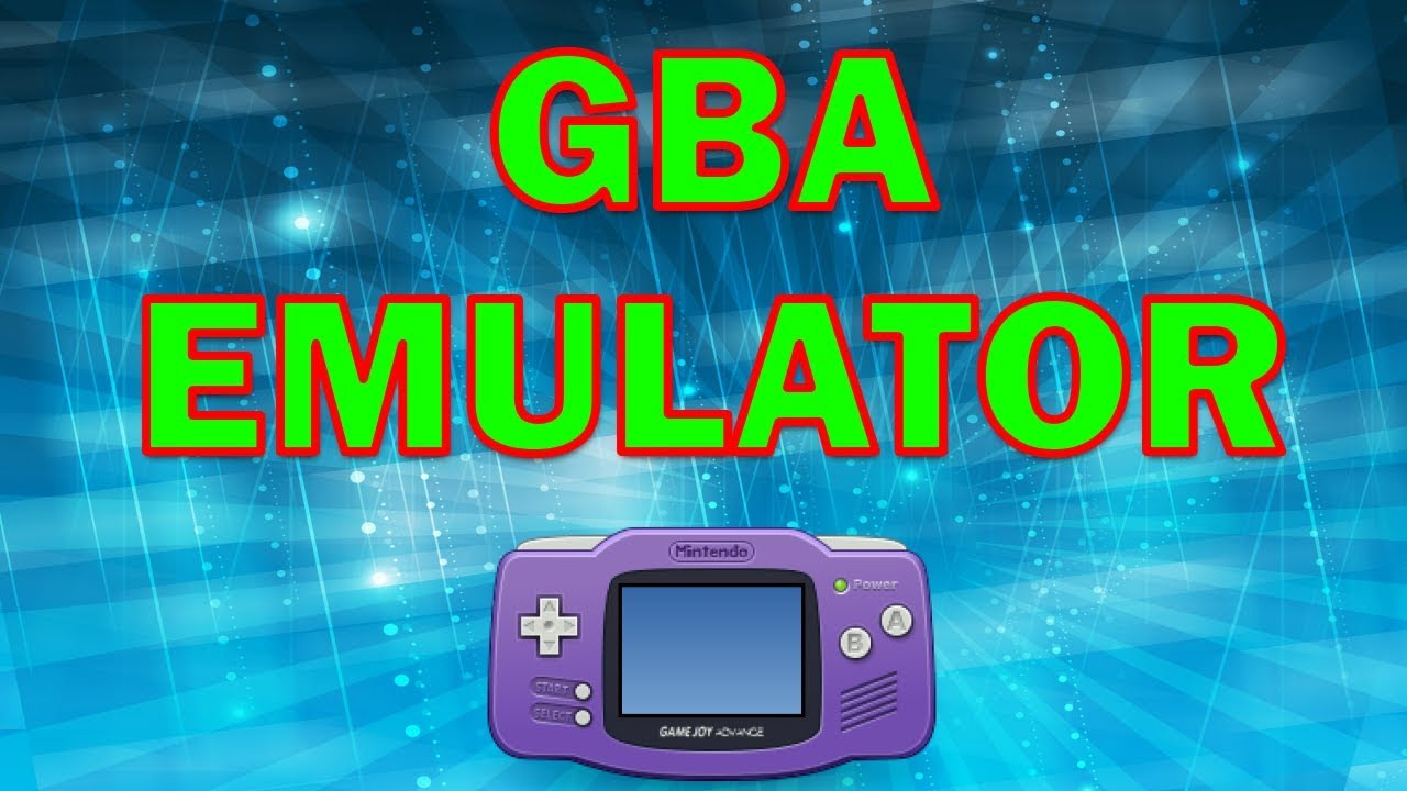 How to use gba emulator on pc - YouTube