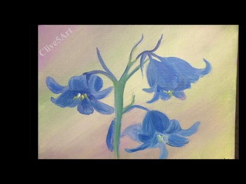 Blue Bells Floral Painting