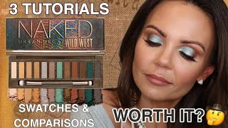 NEW URBAN DECAY WILD WEST PALETTE REVIEW | 3 TUTORIALS | SWATCHES & COMPARISONS