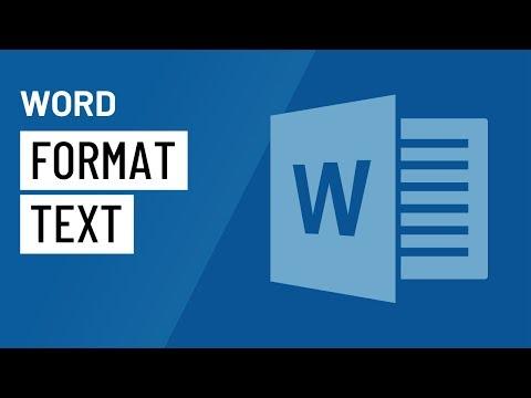Word: Formatting Text