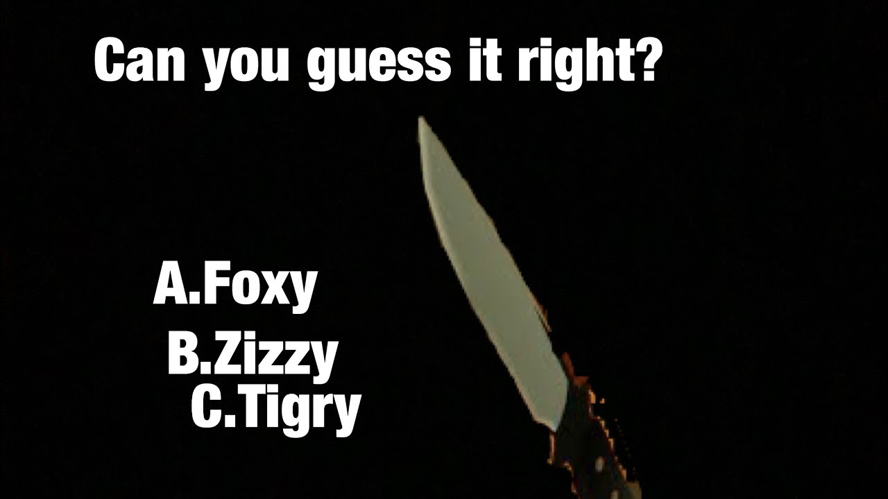 Roblox Piggy Tigry Weapon Piggy Guess The Weapon Youtube