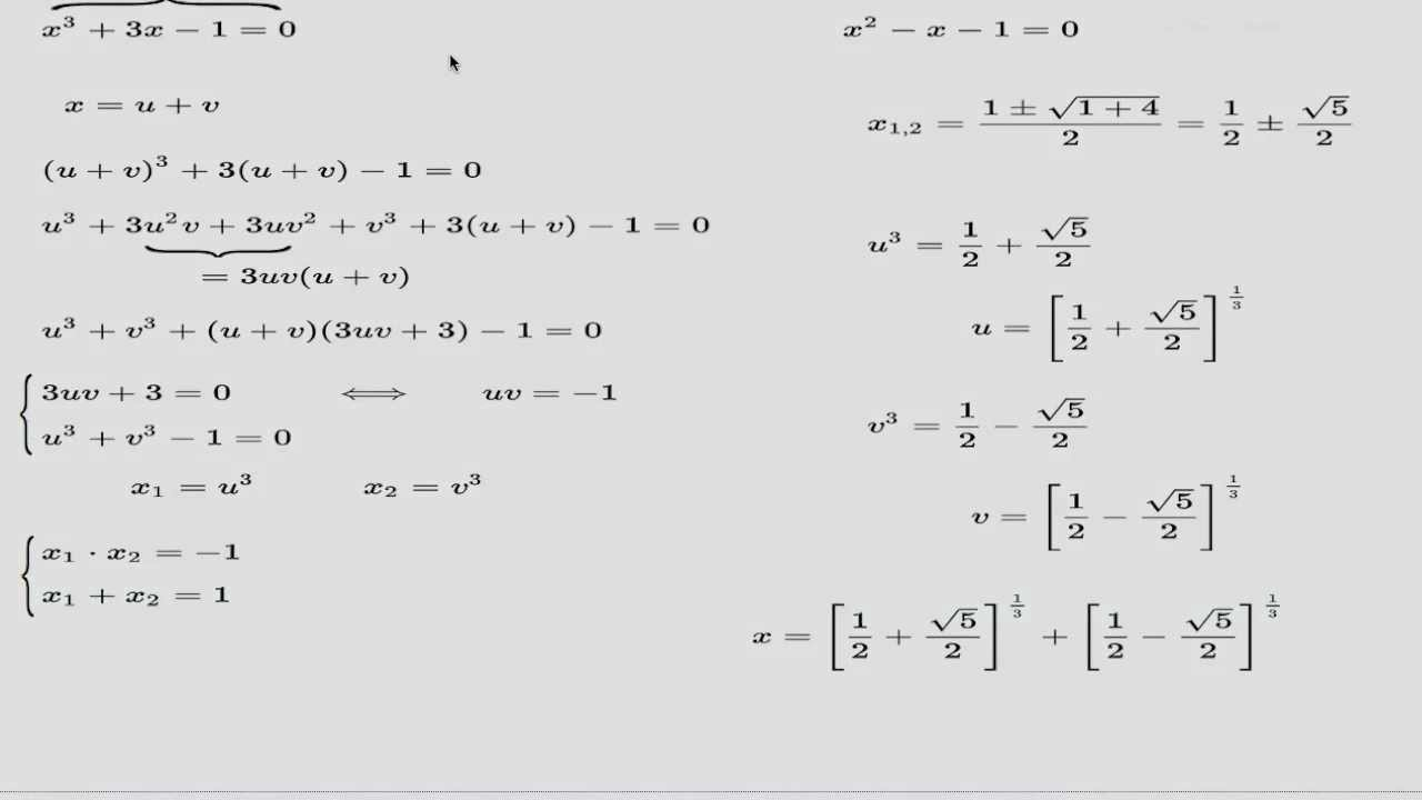 how to find roots of cubic equation easily