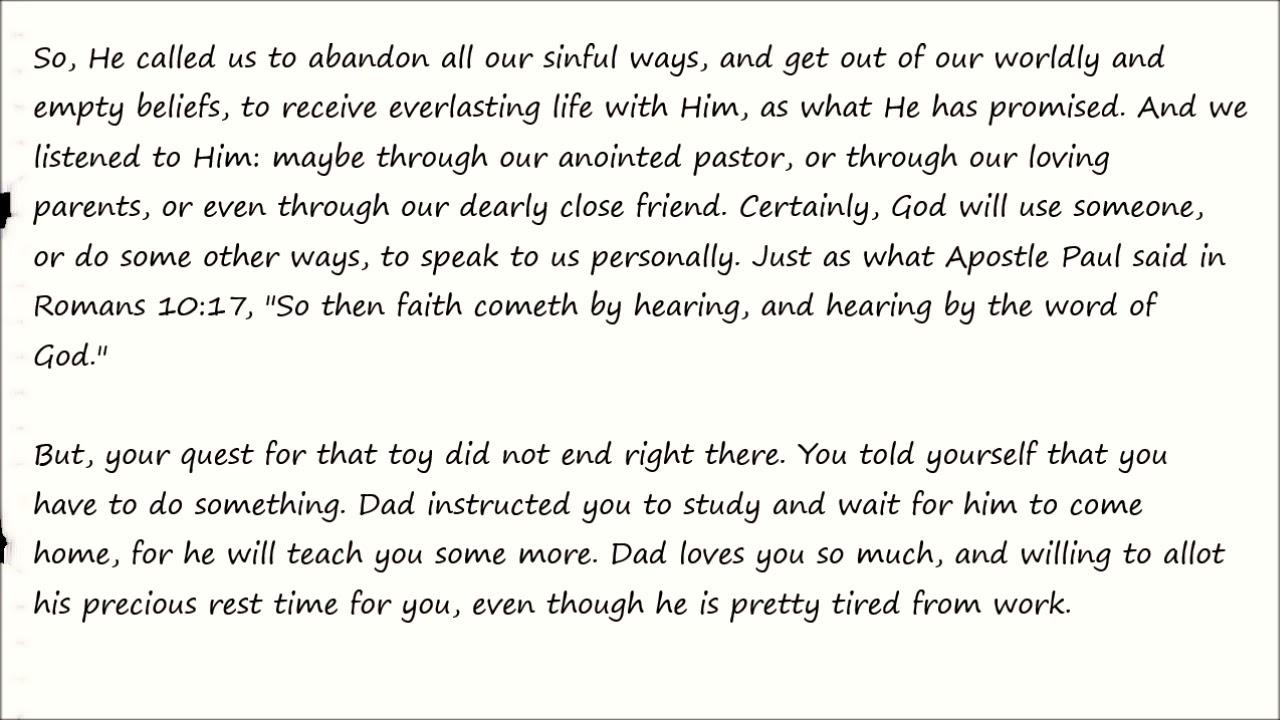 THE PRACTICAL CHRISTIAN - Chapter 1 - On Faith