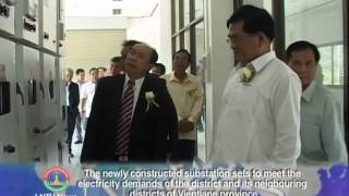Lao NEWS on LNTV:The newly constructed substation sets to meet the  electricity demands.31/3/2014